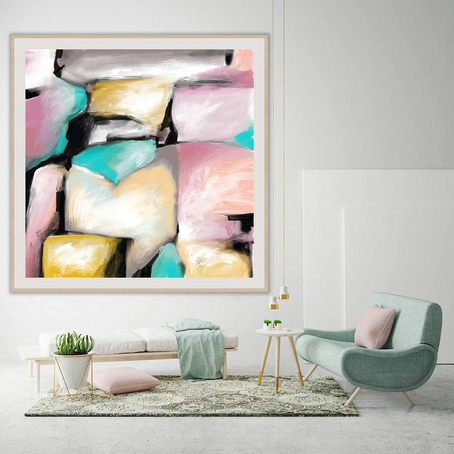Extra Large Painting on Canvas, Original Abstract Art,Contemporary Abstract Paintings, Large Paintings on Canvas, UNSTRETCHED PaS005