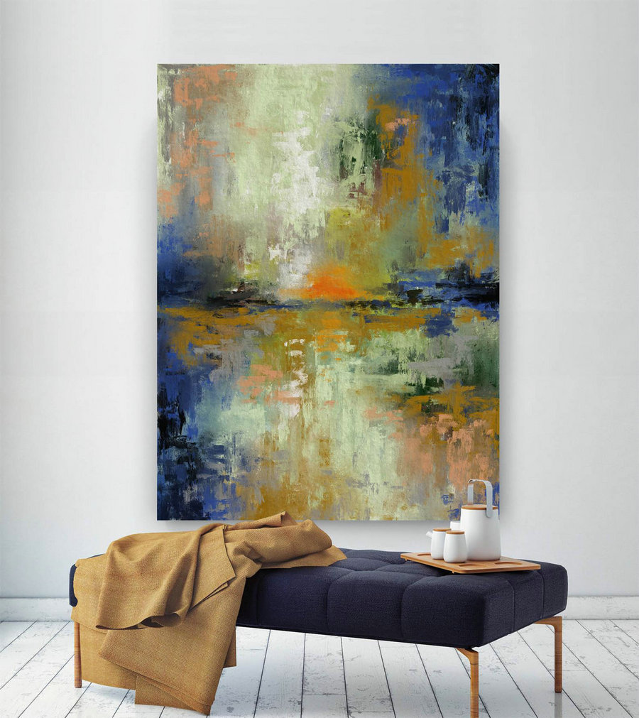 LargeWall Art Original Abstract Painting for Decor Contemporary Wall Art Modern Art Extra Large Original Abstract Painting on Canvas CHS054