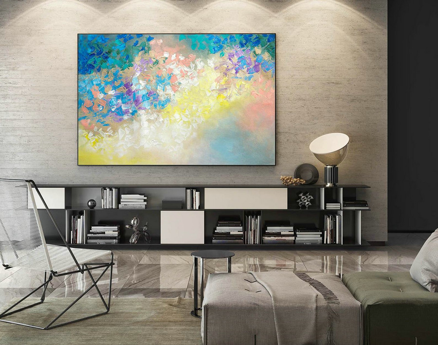 Abstract Painting on Canvas - Extra Large Wall Art, Contemporary Art, Original Oversize Painting LaS245