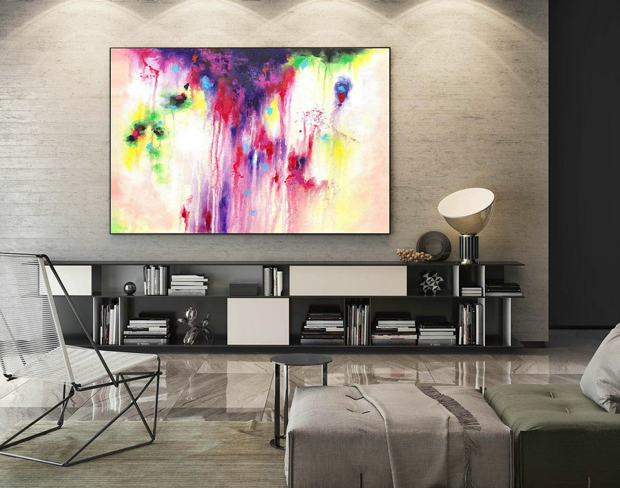 Abstract Canvas Art - Large Painting on Canvas, Contemporary Wall Art, Original Oversize Painting LaS145