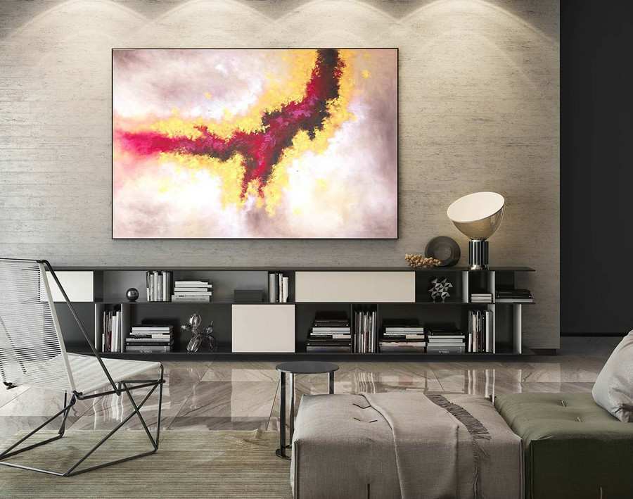 Extra Large Wall art - Abstract Painting on Canvas, Contemporary Art, Original Oversize Painting LaS595
