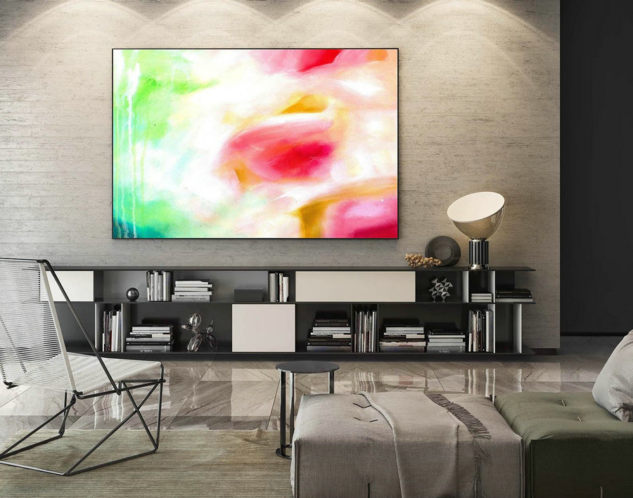 Large Canvas Art - Abstract Painting on Canvas, Contemporary Wall Art, Original Oversize Painting LaS146