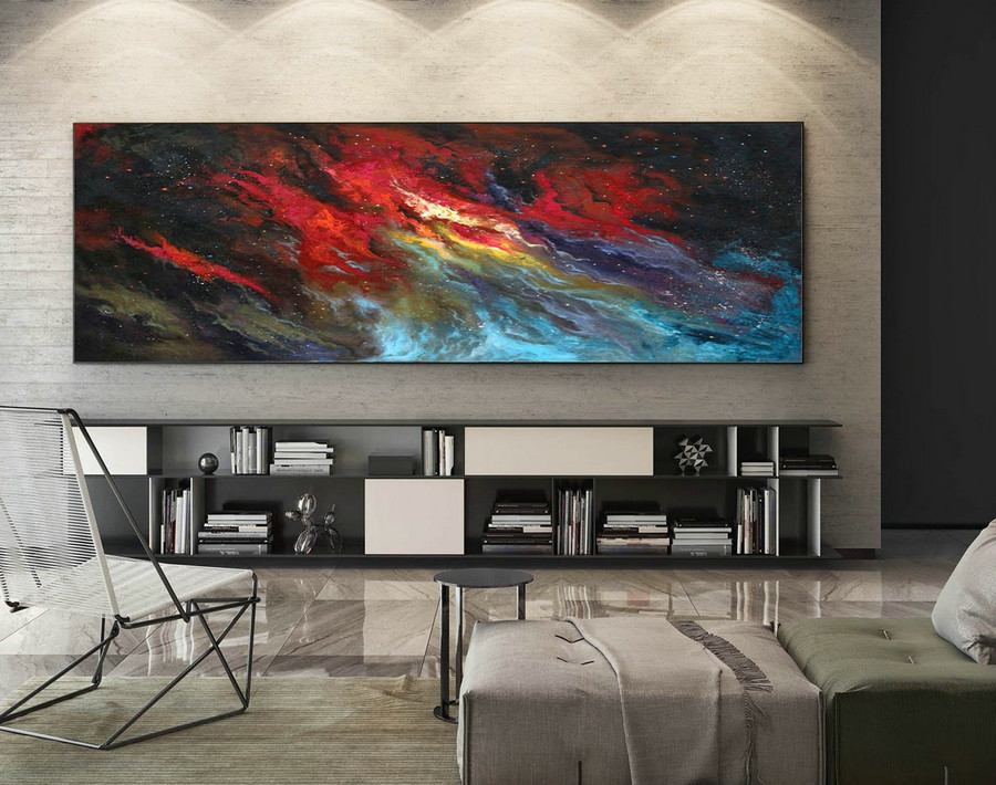Extra Large Wall art - Abstract Painting on Canvas, Contemporary Art, Original Oversize Painting XaS509