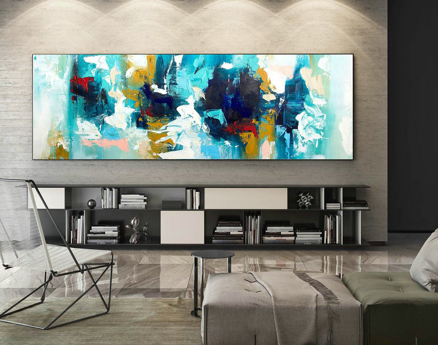 Abstract Canvas Art - Large Painting on Canvas, Contemporary Wall Art, Original Oversize Painting XaS264