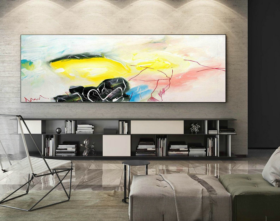 Abstract Painting on Canvas - Extra Large Wall Art, Contemporary Art, Original Oversize Painting XaS042