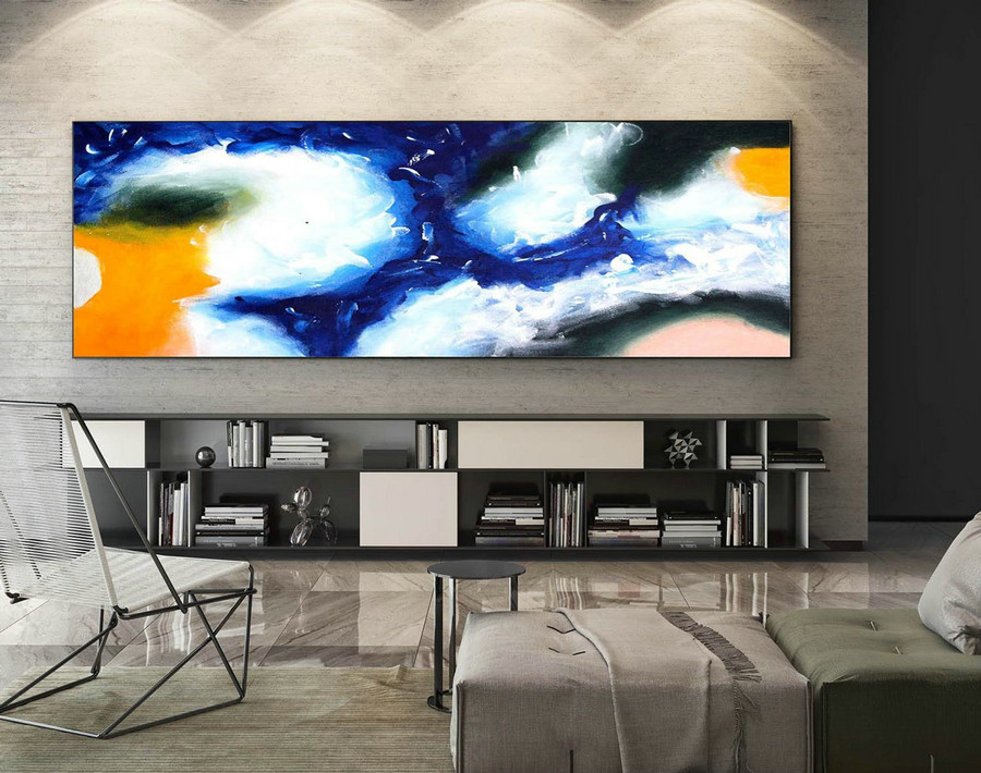 Abstract Canvas Art - Large Painting on Canvas, Contemporary Wall Art, Original Oversize Painting XaS435