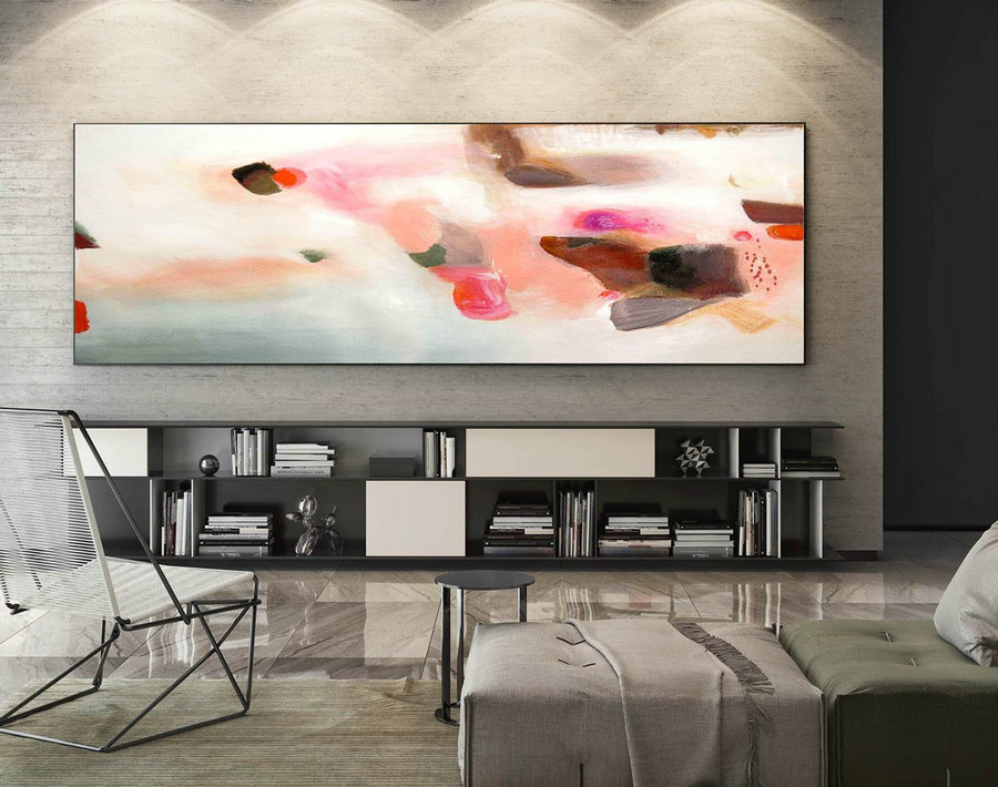 Contemporary Wall Art - Abstract Painting on Canvas, Original Oversize Painting, Extra Large Wall Art XaS241