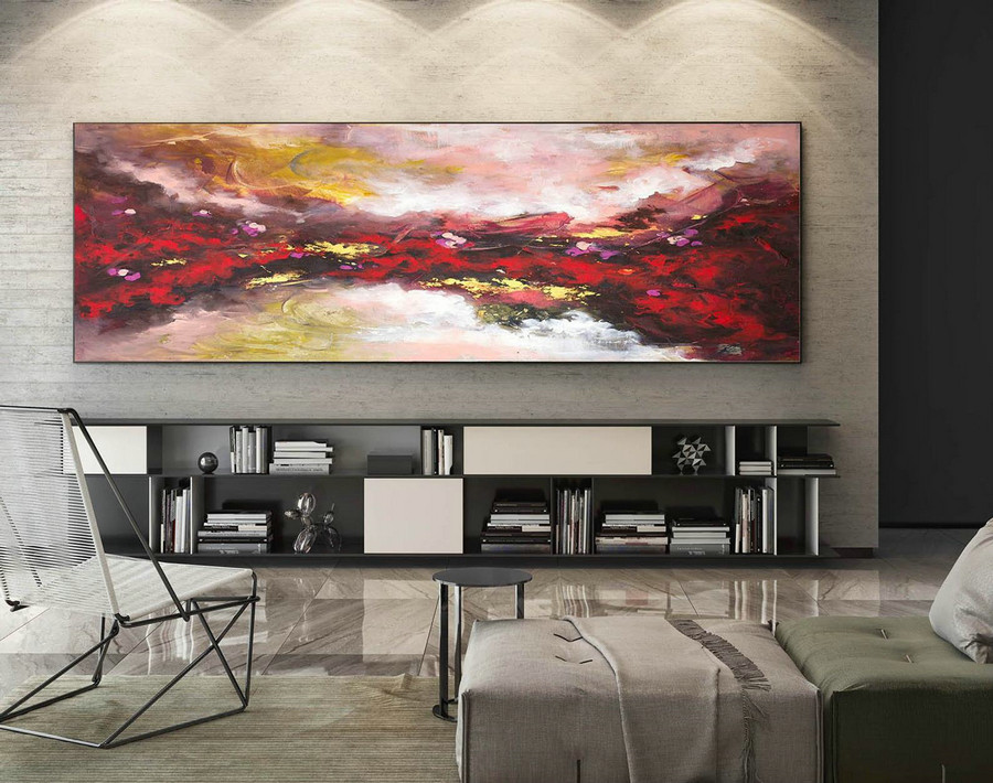 Contemporary Wall Art - Abstract Painting on Canvas, Original Oversize Painting, Extra Large Wall Art XaS596