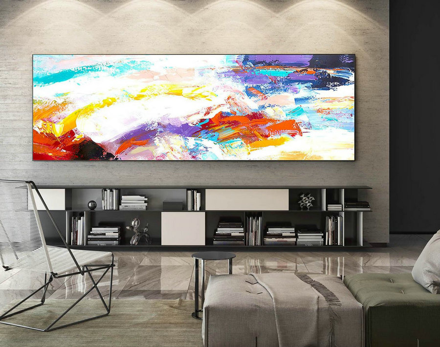 Abstract Canvas Art - Large Painting on Canvas, Contemporary Wall Art, Original Oversize Painting XaS078