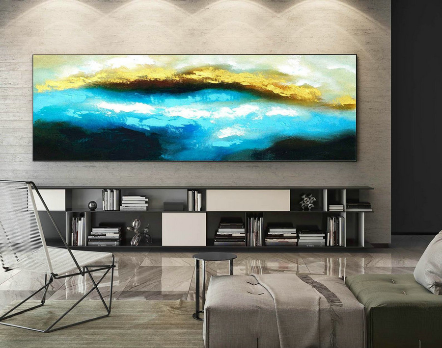 Abstract Painting on Canvas - Extra Large Wall Art, Contemporary Art, Original Oversize Painting XaS327