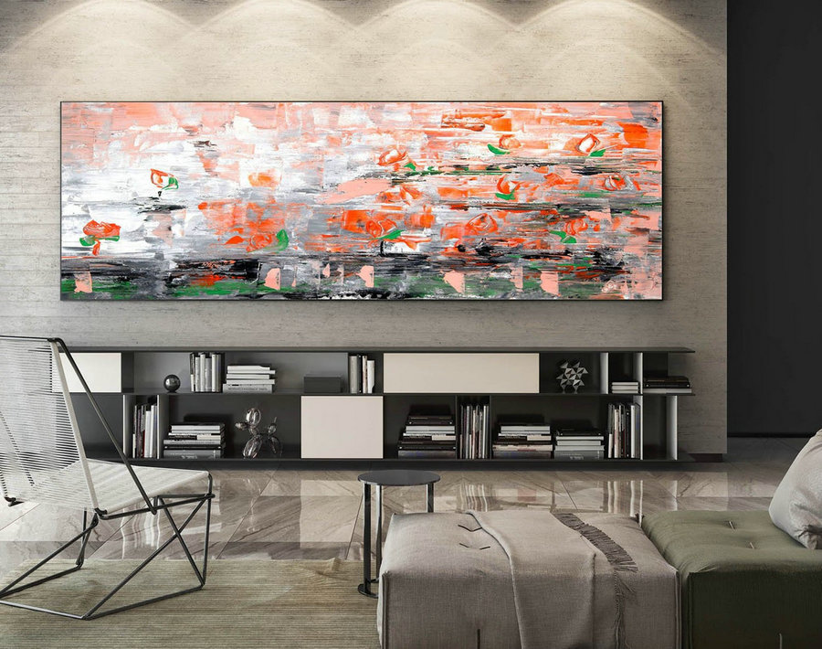 Large Canvas Art - Abstract Painting on Canvas, Contemporary Wall Art, Original Oversize Painting XaS445