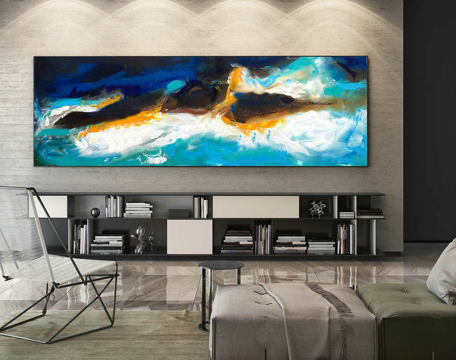 Large Canvas Art - Abstract Painting on Canvas, Contemporary Wall Art, Original Oversize Painting XaS119