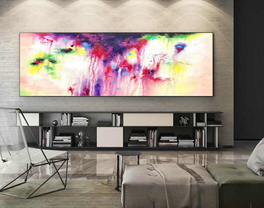 Abstract Painting on Canvas - Extra Large Wall Art, Contemporary Art, Original Oversize Painting Xa0145