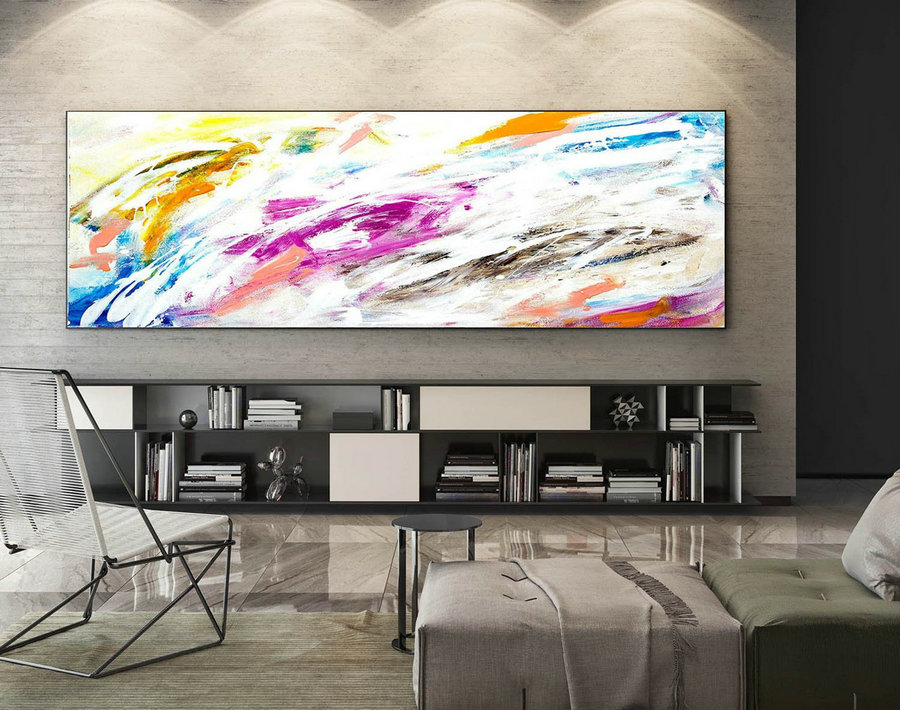 Extra Large Wall art - Abstract Painting on Canvas, Contemporary Art, Original Oversize Painting XaS009