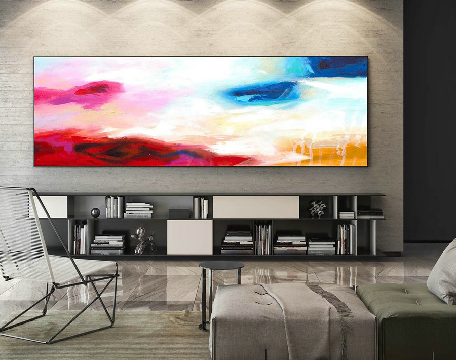 Abstract Painting on Canvas - Extra Large Wall Art, Contemporary Art, Original Oversize Painting XaS123