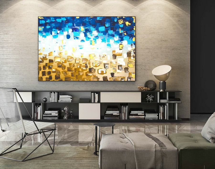 Abstract Painting on Canvas - Extra Large Wall Art, Contemporary Art, Original Oversize Painting LaS573