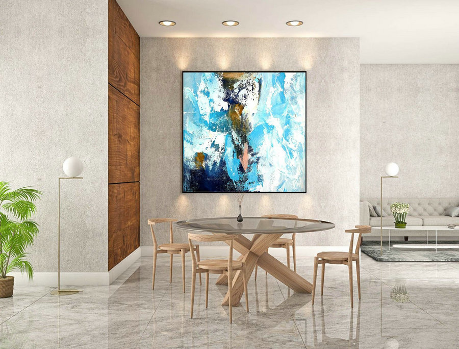 Abstract Canvas Art - Large Painting on Canvas, Contemporary Wall Art, Original Oversize Painting rLaS430