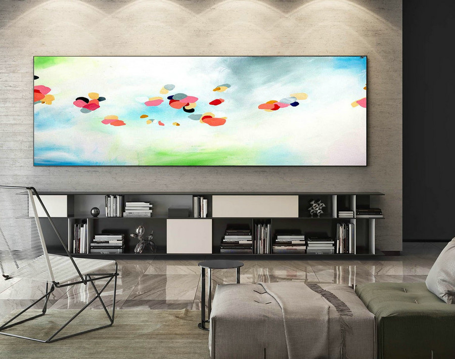 Abstract Canvas Art - Large Painting on Canvas, Contemporary Wall Art, Original Oversize Painting XaS249