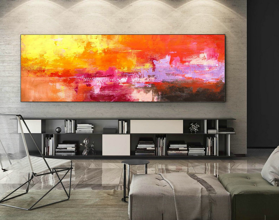 Extra Large Wall art - Abstract Painting on Canvas, Contemporary Art, Original Oversize Painting XaS242