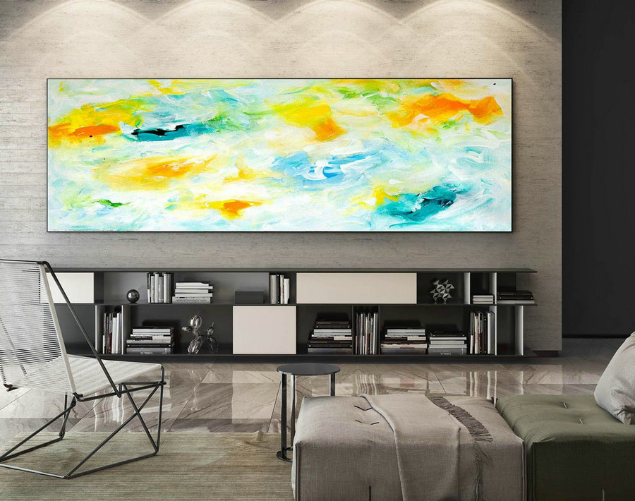 Extra Large Wall art - Abstract Painting on Canvas, Contemporary Art, Original Oversize Painting XaS029