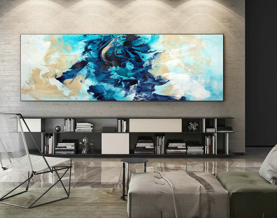 Abstract Canvas Art - Large Painting on Canvas, Contemporary Wall Art, Original Oversize Painting XaS233