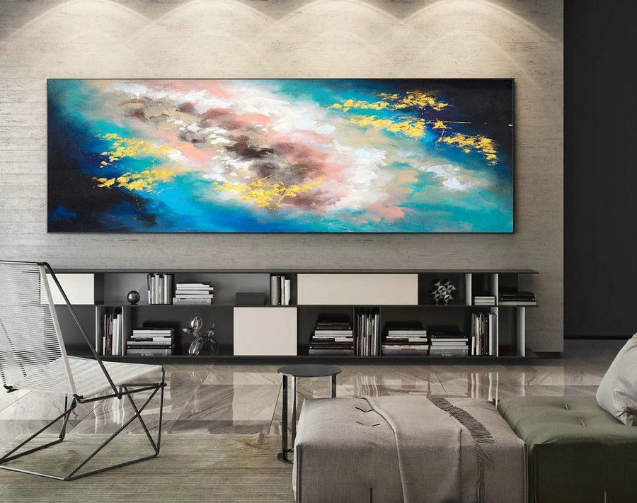 Abstract Painting on Canvas - Extra Large Wall Art, Contemporary Art, Original Oversize Painting XaS603