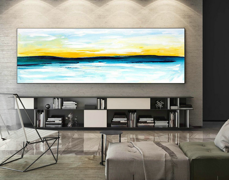 Extra Large Wall art - Abstract Painting on Canvas, Contemporary Art, Original Oversize Painting XaS043