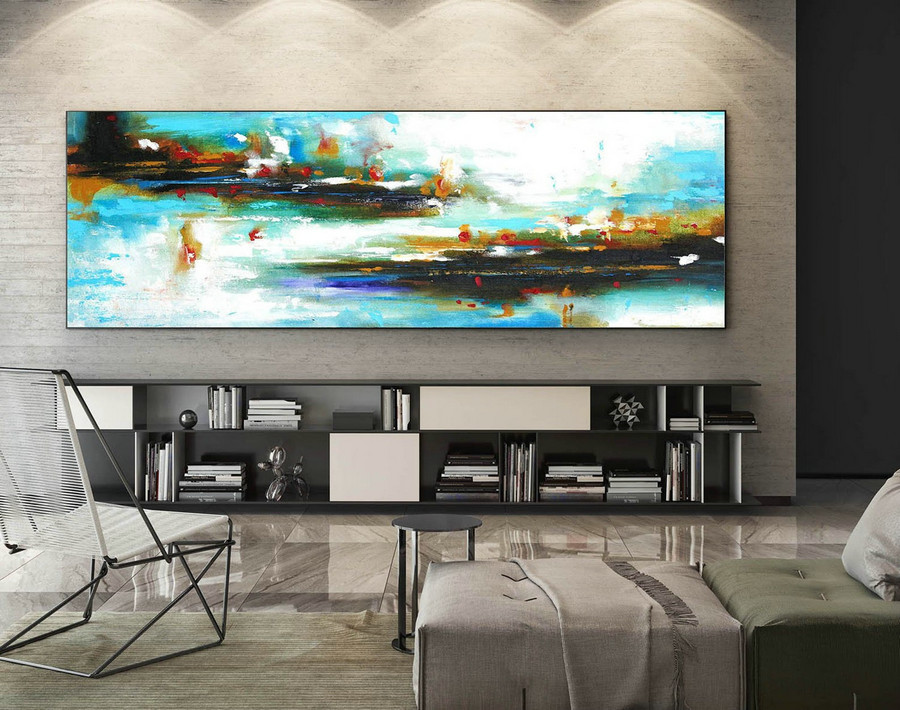 Contemporary Wall Art - Abstract Painting on Canvas, Original Oversize Painting, Extra Large Wall Art XaS420