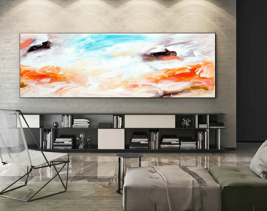 Abstract Painting on Canvas - Extra Large Wall Art, Contemporary Art, Original Oversize Painting XaS047