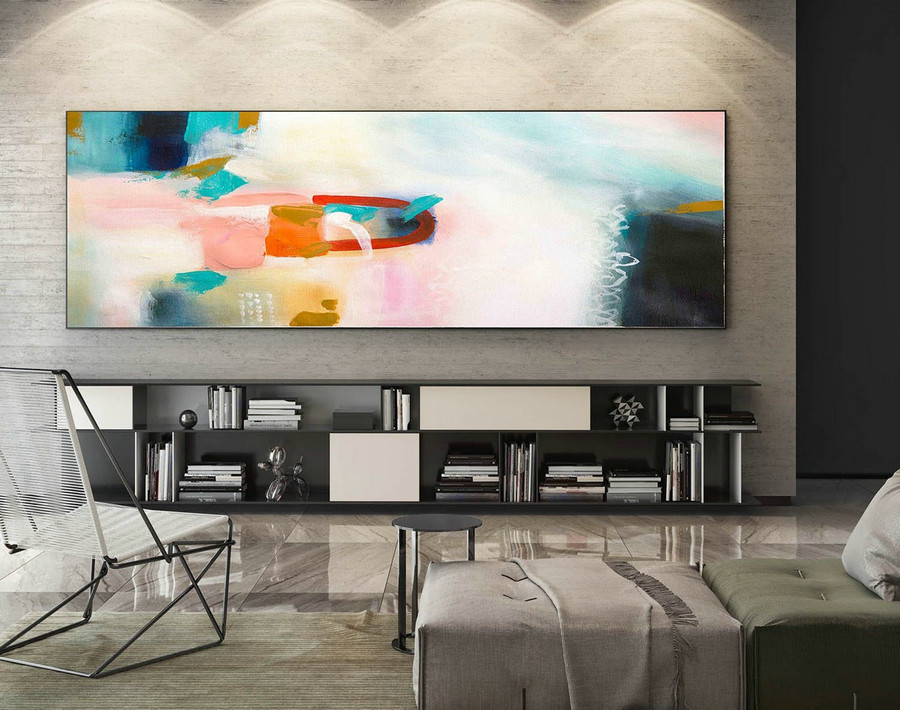 Original Abstract Painting, Modern Abstract Art, Home Decor Painting, Paintings on Canvas, Extra Large Wall Art, Large Panoramic Art XaS229