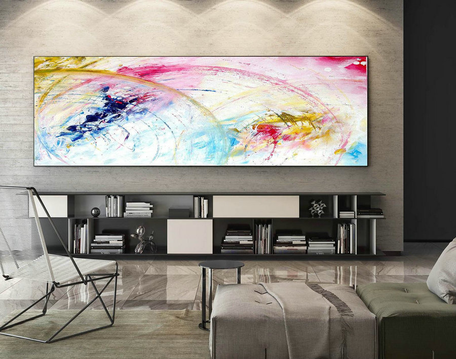 Abstract Canvas Art - Large Painting on Canvas, Contemporary Wall Art, Original Oversize Painting XaS011