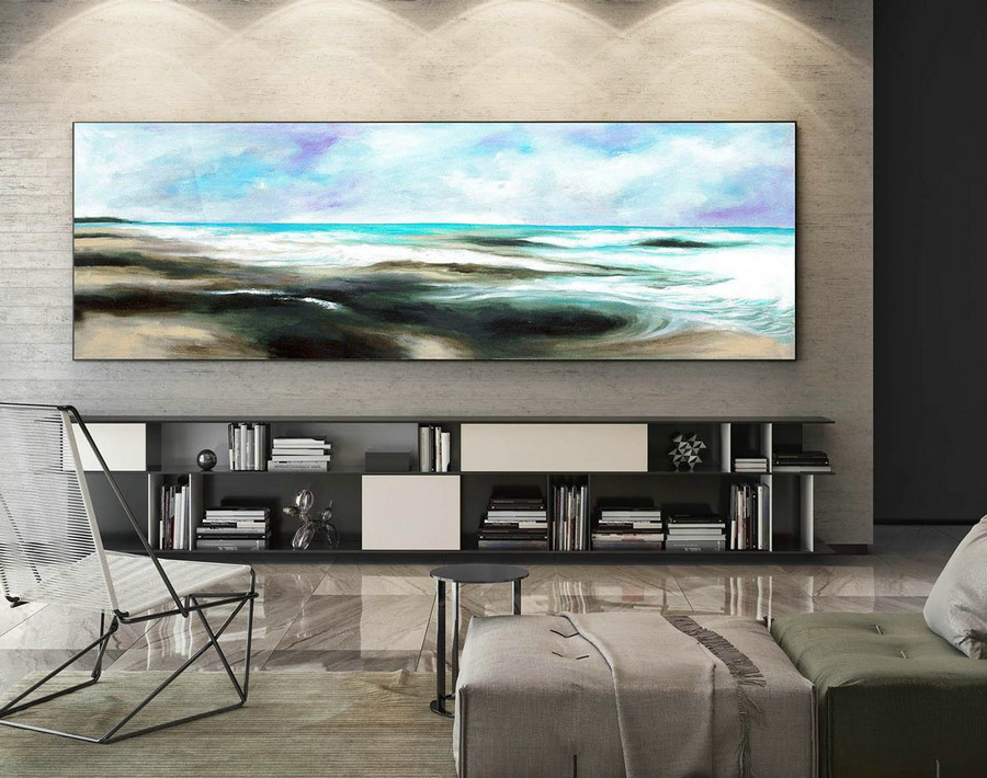 Abstract Canvas Art - Large Painting on Canvas, Contemporary Wall Art, Original Oversize Painting XaS079