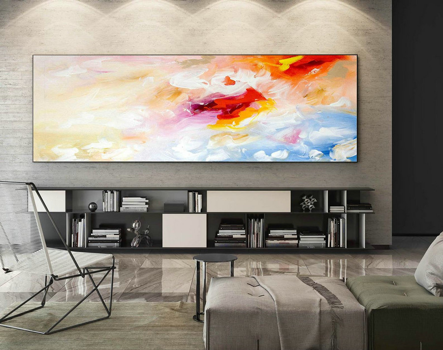Abstract Painting on Canvas - Extra Large Wall Art, Contemporary Art, Original Oversize Painting XaS051