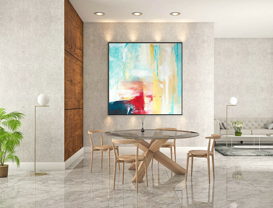 Abstract Canvas Art - Large Painting on Canvas, Contemporary Wall Art, Original Oversize Painting LaS288