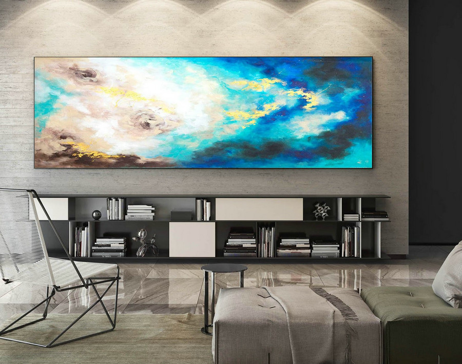 Abstract Painting on Canvas - Extra Large Wall Art, Contemporary Art, Original Oversize Painting XaS605