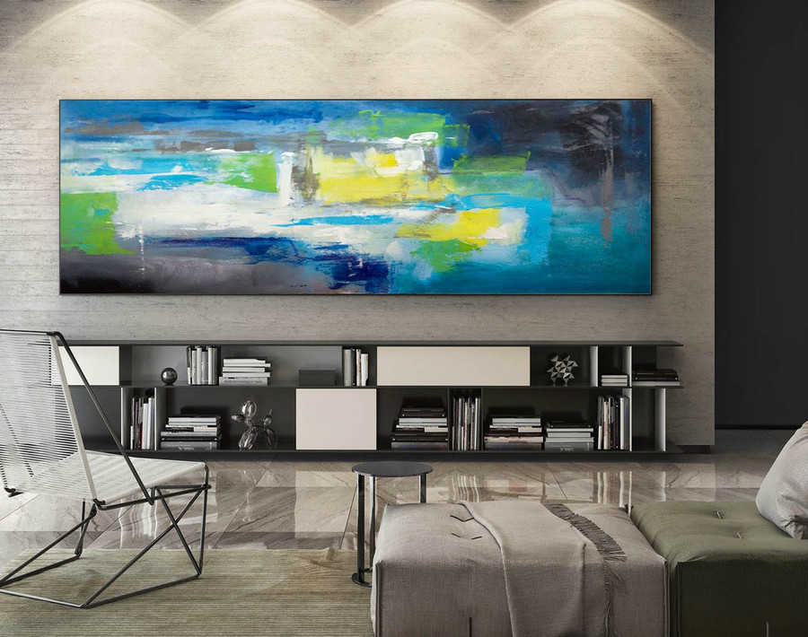 Modern Painting on Canvas,Modern Abstract Canvas Art,contemporary modern,texture art painting,modern oil canvas,Large Panoramic Art XaS226