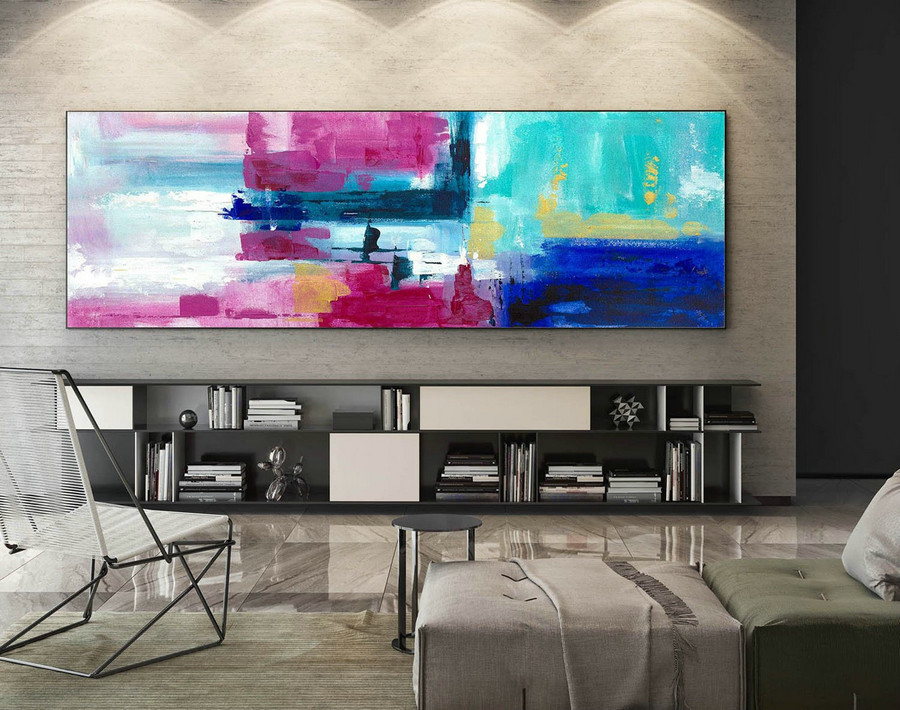 Abstract Canvas Art - Large Painting on Canvas, Contemporary Wall Art, Original Oversize Painting XaS164