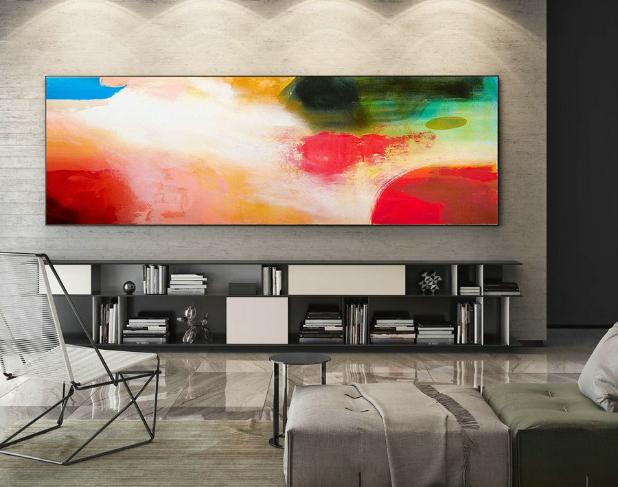 Abstract Canvas Art - Large Painting on Canvas, Contemporary Wall Art, Original Oversize Painting XaS216