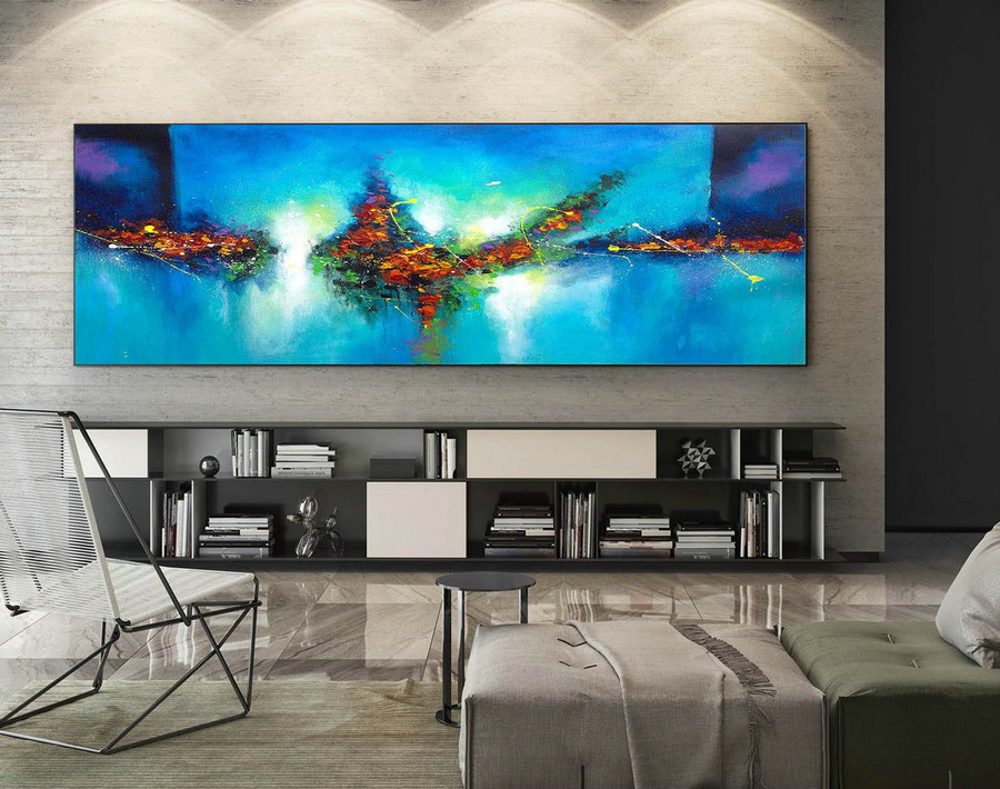 Contemporary Wall Art - Abstract Painting on Canvas, Original Oversize Painting, Extra Large Wall Art XaS073