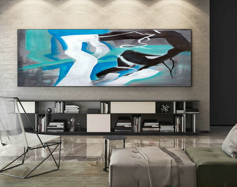 Abstract Painting on Canvas - Extra Large Wall Art, Contemporary Art, Original Oversize Painting XaS135
