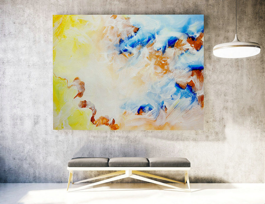 Extra Large Wall art - Abstract Painting on Canvas, Contemporary Art, Original Oversize Painting LAS022