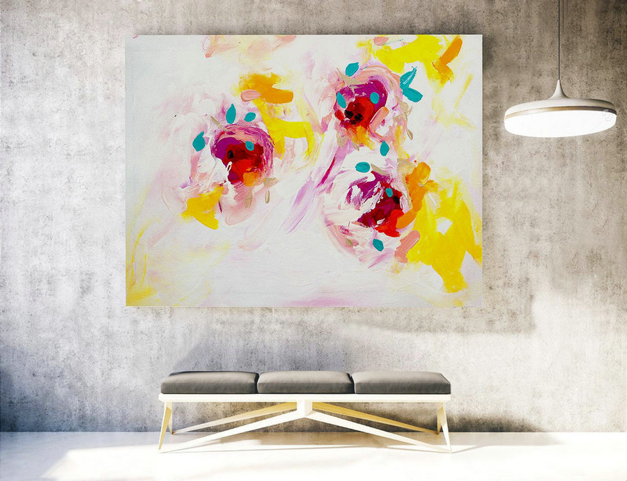 Abstract Painting on Canvas - Extra Large Wall Art, Contemporary Art, Original Oversize Painting LAS040