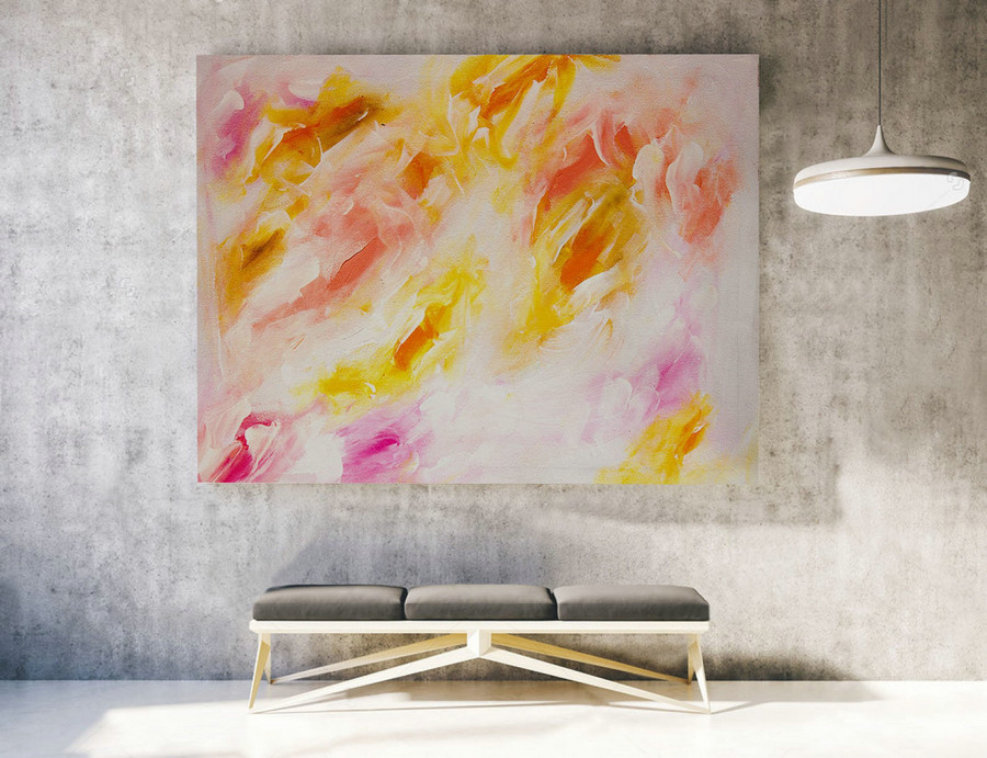 Extra Large Wall art - Abstract Painting on Canvas, Contemporary Art, Original Oversize Painting LAS015