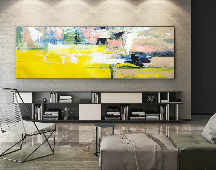 Abstract Canvas Art - Large Painting on Canvas, Contemporary Wall Art, Original Oversize Painting XaS235
