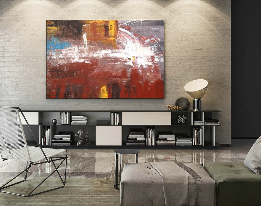 Large Canvas Art - Abstract Painting on Canvas, Contemporary Wall Art, Original Oversize Painting LaS506