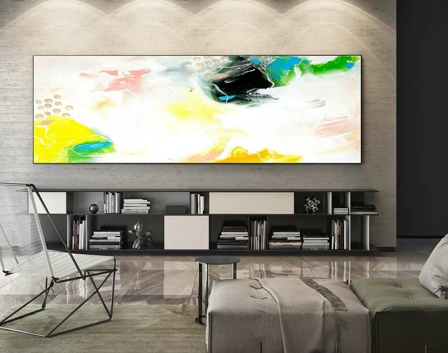 Abstract Canvas Art - Large Painting on Canvas, Contemporary Wall Art, Original Oversize Painting XaS052