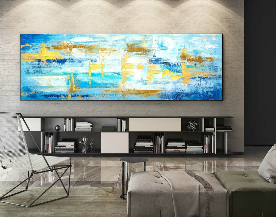 Abstract Canvas Art - Large Painting on Canvas, Contemporary Wall Art, Original Oversize Painting XaS575