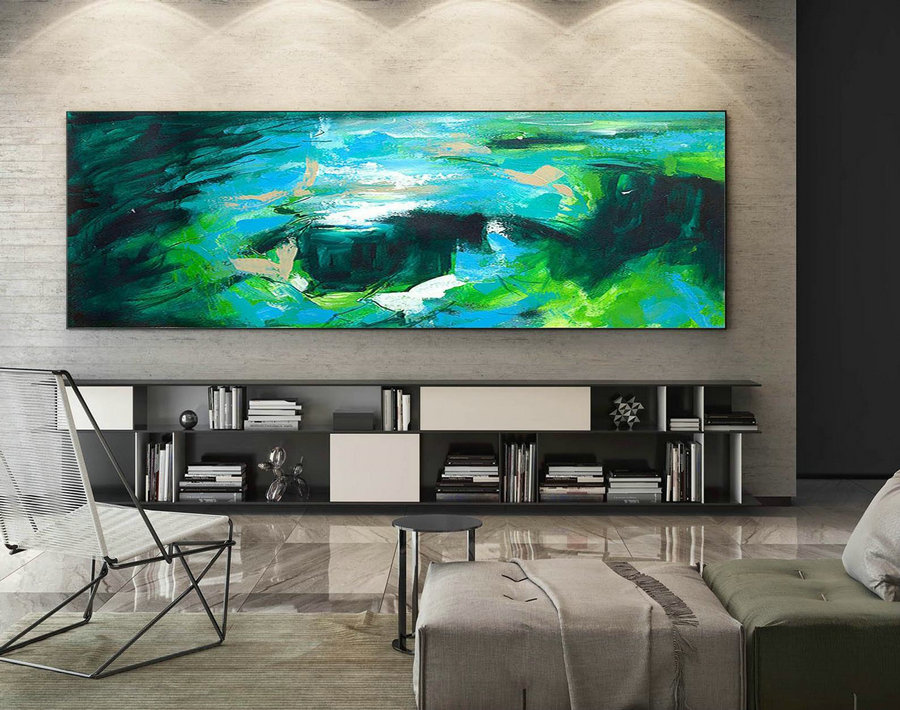 Abstract Canvas Art - Large Painting on Canvas, Contemporary Wall Art, Original Oversize Painting XaS075