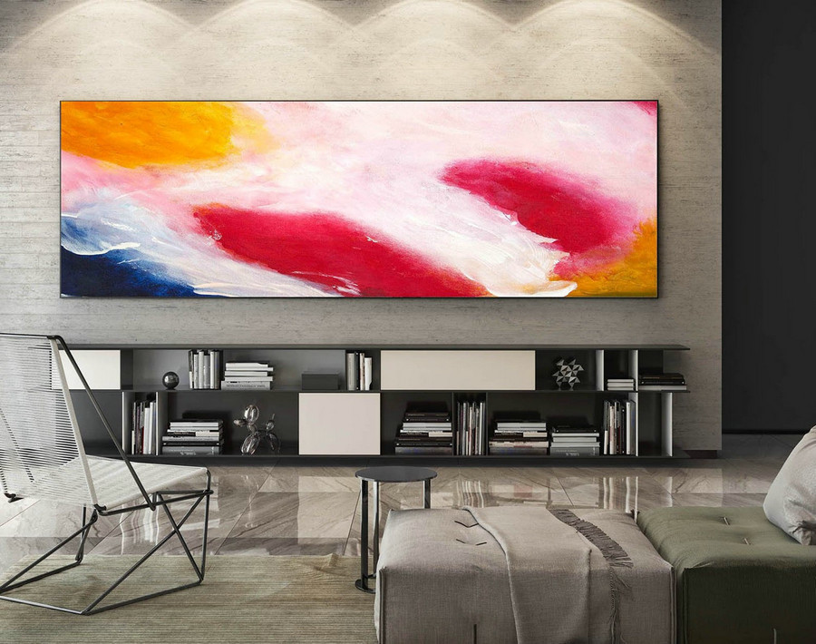 Large Canvas Art - Abstract Painting on Canvas, Contemporary Wall Art, Original Oversize Painting XaS555