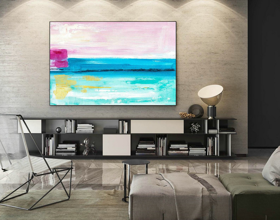 Abstract Canvas Art - Large Painting on Canvas, Contemporary Wall Art, Original Oversize Painting LaS165